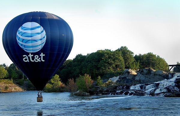 AT&T by the waterfall