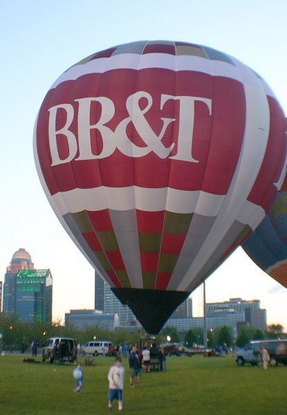 BB&T balloon by the river