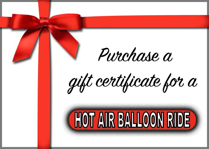 Balloon Ride Gift Certificate